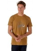 Camiseta Mammut LOGO Sand Dark-Sand MC
