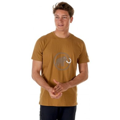 Camiseta Mammut LOGO Sand Dark-Sand MC - LOGO MEN SAND DARK-SAND MC(1)