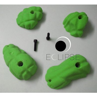 Pack de Presas Escalada ECLIPSE 4 Romos Textura suave - PACK 4 ROMOS VERD(1)