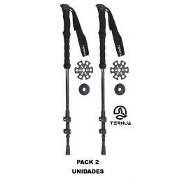 Bastones de Trekking Ternua KANGRI POLE Black Pack 2 Unidades