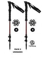 Bastones de Trekking Ternua KANGRI POLE Garnet Pack 2 Unidades