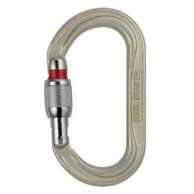 Mosquetón Simetrico Acero Petzl OXAN Screw Lock Dorado - PETZL OXAN SCREW LOCK (1)