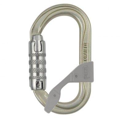 Mosquetón Simetrico Acero Petzl OXAN Triact Lock Dorado - PETZL OXAN TRIACT LOCK (1)