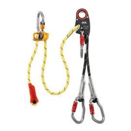 Elemento de amarre heligruaje con aseguramiento depósito/recogida en altura