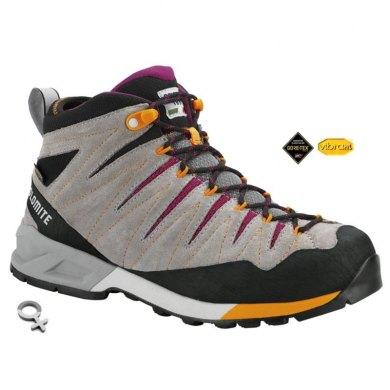 Botas Trekking Mujer Dolomite CRODAROSSA MID GTX Wmns Pewter Grey - CRODAROSSA MID GTX PEWTER-G-PURPLE