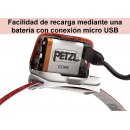 Linterna Frontal Recargable Petzl ACTIK CORE Rojo 350 lm - PETZL ACTIK CORE NEGRO (3)
