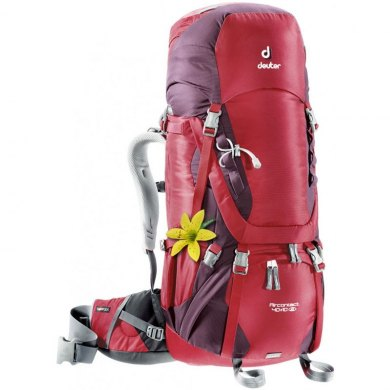 Mochila de trekking Mujer Deuter AIRCONTACT 40+10 SL Cranberry-Aubergine - AIRCONTACT 40+10SL CRANBERRY-AUBERGIN