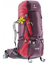 Mochila de trekking Mujer Deuter AIRCONTACT 60+10 SL Aubergine-Cranberry