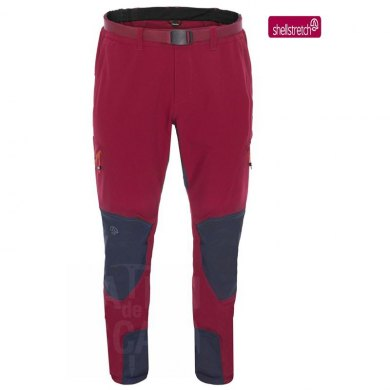 Pantalones de Trekking Ternua WITHORN PANT Burgundy Whales Grey - TERNUA WITHORN BURGUNDY-WHALES GREY