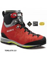 Botas de Alpinismo Dolomite TORQ GTX 2.0 Fiery Red-Green Shoot