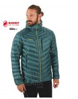 Plumifero Mammut BROAD PEAK IN  HOODED Hombre Dark Teal-Canary