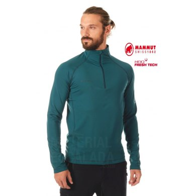 Jersey Mammut SNOW ML HALF Zip Hombre Dark Teal - MAMMUT SNOW ML HALF ZIP DARK TEAL (1)
