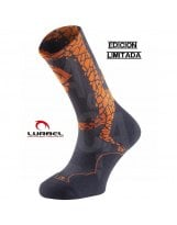 Calcetines Trail Running Lurbel DESAFIO ICE 2019 Dark Grey Orange