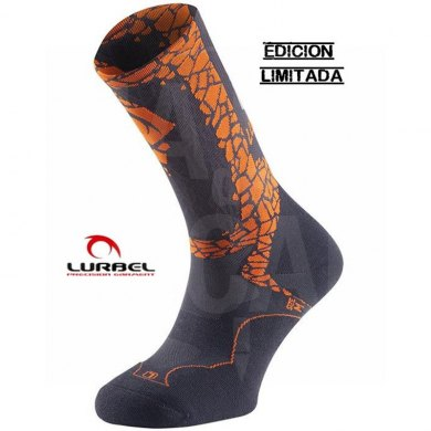 Calcetines Trail Running Lurbel DESAFIO ICE 2019 Dark Grey Orange - LURBEL DESAFIO ICE DARK GREY ORANGE