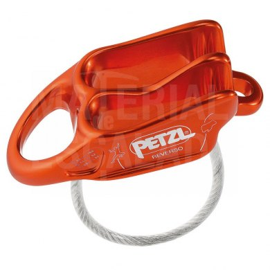 Asegurador - Descensor Petzl Reverso 2019 Red Orange - PETZL REVERSO 2019 ROJO (1)