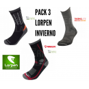 PACK 3 Calcetines Trekking Lorpen INVIERNO