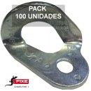 Chapa escalada fixe 1 Bicromatada 10 mm Pack 100 unidades - CHAPA FIXE 1 CR PACK 100