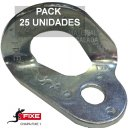 Chapa escalada fixe 1 Bicromatada 10 mm Pack 25 Unidades - CHAPA FIXE 1 CR PACK 25