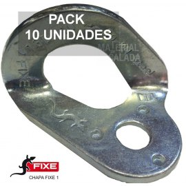 Chapa escalada fixe 1 Cromada 10 mm PACK 10 unidades