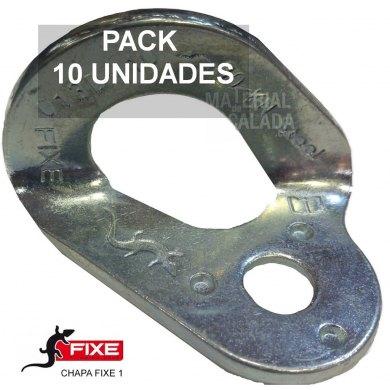 Chapa escalada fixe 1 Cromada 10 mm PACK 10 unidades - CHAPA FIXE 1 CR PACK 10
