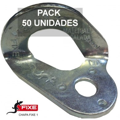 Chapa escalada fixe 1 Bicromatada 10 mm Pack 50 unidades - CHAPA FIXE 1 CR PACK 50