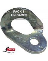 Chapa escalada fixe 1 acero zincado 10 mm Pack 5 unidades