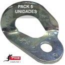 Chapa escalada fixe 1 Bicromatada 10 mm Pack 5 unidades - CHAPA FIXE 1 CR PACK 5
