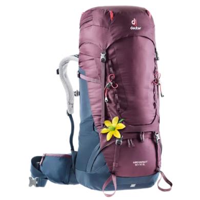 Mochila de trekking Mujer Deuter AIRCONTACT 50+10 SL Blackberry-Navy
