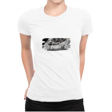 Camiseta Escalada mujer | Blanco algodon organico