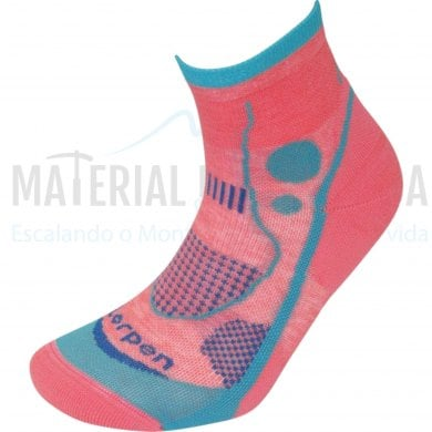 Calcetines trail runnung mujer|LORPEN X3LW17 Ws T.R Light Coral