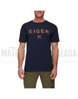 Camiseta manga corta | MAMMUT Seile algodon organico Night Prt3