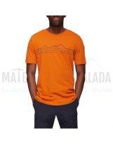 Camiseta manga corta | MAMMUT Seile algodon organico Dark Cheddar Prt1