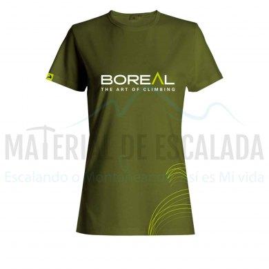 Camiseta manga corta mujer | BOREAL Organic Cotton T-Shirt wmns Green