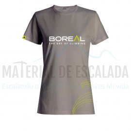 Camiseta manga corta mujer | BOREAL Organic Cotton T-Shirt wmns Grey