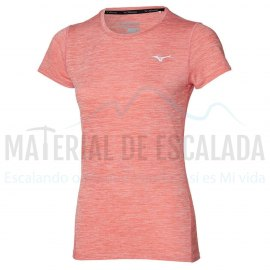 Camiseta manga corta mujer | MIZUNO Impulse Core TEE coral