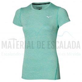 Camiseta manga corta mujer | MIZUNO Impulse Core TEE turquesa