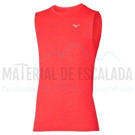 Camiseta sin mangas | MIZUNO Impulse Core Sleeveless rojo