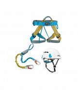 Kit Via Ferrata Rock Empire 1 - Arnes Spedy - Dynastop + Casco