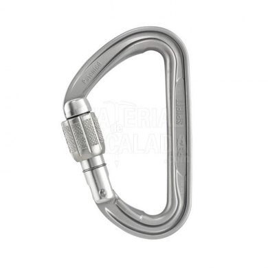 Mosqueton Seguridad Rosca Ligero Petzl SPIRIT Screw Lock - M53A-SL-SPIRIT SCREW LOCK