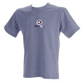 Camiseta algodon hombre Manga Corta BOREAL AZUL