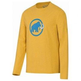 Mammut Logo Longsleeve Amarillo - Camiseta Algodon Manga Larga