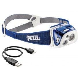 Linterna frontal Recargable Petzl REACTIK Azul 220 lm