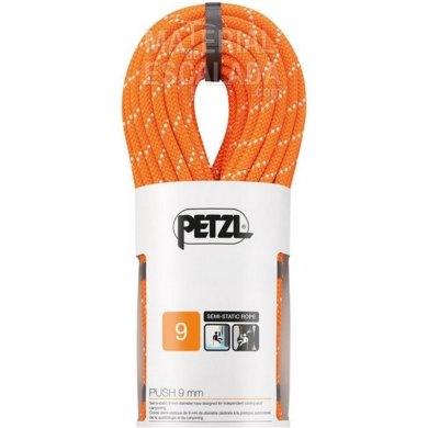 Cuerda Barrancos PETZL Push 9 mm 70 metros - Cuerda semiestática - PETZL PUSH 9 MM NARANJA (1)