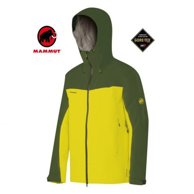 MAMMUT CRATER HS HOODED JACKET GORETEX MEN - MAMMUT CRATER HS HOODED MEN LIMEADE
