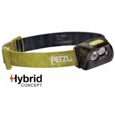Linterna Frontal Petzl ACTIK 300 lm Verde - PETZL ACTIKA VERDE