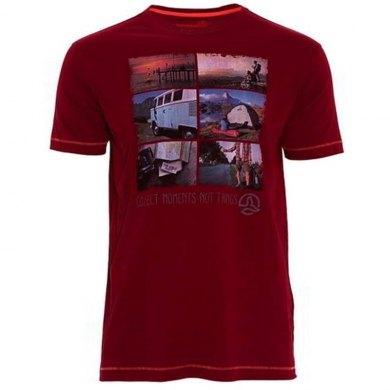 Camiseta de Algodon manga corta Ternua ELBER - TERNUA ELBER GRANATE