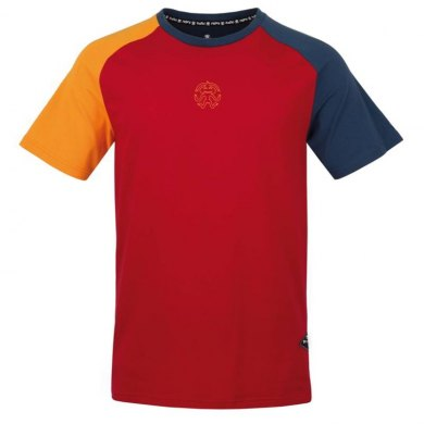 Camiseta de Escalada RAFIKI Hank Lipstick Red - T-SHIRT HANK Lipstick Red (1)