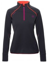 Forro Polar Mujer Ternua ADILET1/2 ZIP Black-Orange