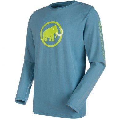Camiseta Mammut SNOW Hombre Cloud ML - CAMISETA MAMMUT SNOW ML AZUL (1)