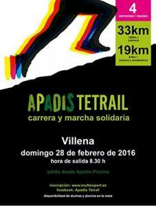 APADIS TETRAIL carrera y marcha solidaria Villena